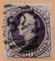 1888 U.S. Scott #218 Ninety Cent OIiver Hazard Perry Stamp Used, CV $225