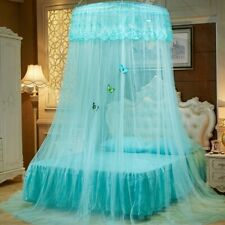 Lace Round Dome Mosquito Canopy Hung Bed Nets Curtains Romantic Princess Home