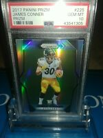 James Conner 2017 Panini Prizm Silver Prizm Rookie RC PSA 10 GMT Steelers!🔥🏈🔥
