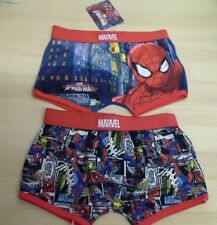 Boys Official nicolodeon Marvel Spider-Man  boxer shorts. X 2 pairs 5-6 years.