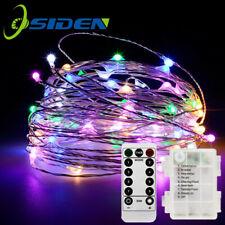 50 LED Draht Lichterkette Batterie Weihnachten Deko Mit Fernbedingung RGB 5M DE