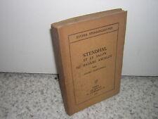 1932.Stendhal et salon de Mme Ancelot.Henri Martineau.envoi autographe.bon ex