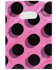 "100 Plastic Bags Lot Shopping Gift 9.7"" 8"" 20 x 24 cm Dots Dot Wholesale Black"