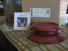 Longaberger~Woven Traditions Pottery Candle Holder~Nib!