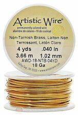 Brass Artistic Craft Wire 12 Feet 3.65 Meters Jewelry Beading Crafts 18 Gauge