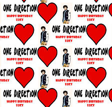 Personalised Gift Wrapping Paper ONE DIRECTION HARRY Birthday Any Name!  1DBH