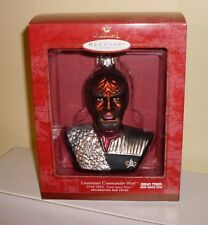 Star Trek Blown Glass Hallmark Ornament Lt Cmdr Worf Deep Space 9 2000 Ds9 New