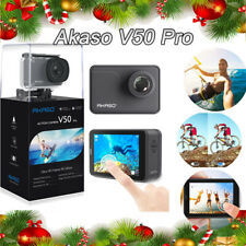 AKASO V50 Pro Native 4K30fps 20MP WiFi Action Camera with Helmet Accessories Kit