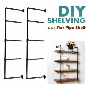 Tier Shelf Industrial Furniture Wall Shelf Bracket Hanging Storage Iron Pipe