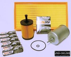 VOLKSWAGEN BORA 1J V5 2.3L OIL AIR FUEL FILTER SERVICE KIT+SPARK PLUGS 99-2001