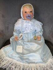 "Lee Middleton Doll ""Precious In Blue"" Blonde W/Brown Eyes 00445 Reva Schick"