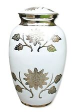 Urn For Ashes adult Large Urn Funeral Memorial Urn White Urn Ashes Urn