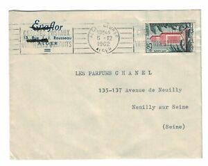 ALGERIE, Alger bourse slogan cancel, scott 293 on cover 1962