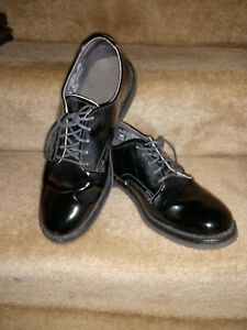 Men's Black Patent Leather Oxford Dress Shoes  by Vibram 8 1/2 EE Extra Wide