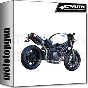 SPARK 2 EXHAUSTS FULL HIGH ROUND RACING CARBON DUCATI MONSTER 1100 EVO 2013 13