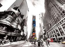 Photo papier-peint mure mural Times square Vintage New York noir décor