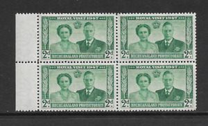 1947 Bechuanaland Protectorate - Royal Visit - Block of Four - Mint and Unhinged