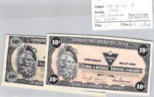 2 BILLETS CANADA - 10 ET 50 DOLLARS 1989