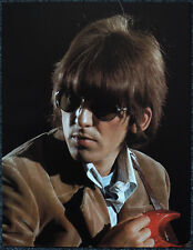 THE BEATLES POSTER PAGE . 1966 GEORGE HARRISON PAPERBACK WRITER PROMO SHOOT . V4
