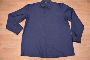 Vtg French EU Worker CHORE Work Shirt Jacket - Medium #966 DEADSTOCK UNWORN