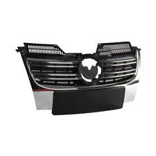 Chrome Front Bumper Radiator Center Grille Fit For VW Jetta MK5 MKV 05-10 Sedan