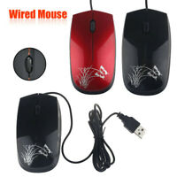 USB 2.0 Optical Wired Scroll Wheel Mouse Mice For PC Laptop Notebook Desktop UK
