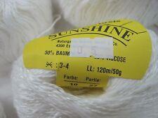 wolle zum stricken strickwolle| weiss 500gr baumwo/Vis Naturgarn stricken 1200m