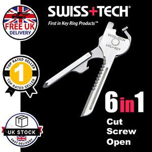 6-In-1 Survival Tool Multi Tool Key Chain Bottle Opener screwdrivers Gift UK
