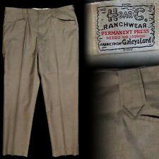 Vintage 1960s H Bar C Ranchwear Koratron Western Cowboy Pants 39x30
