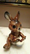 "Vintage Goebel Bunny Rabbit Playing Drums So Cute Must C ! 4"""