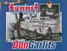 2004 Don Garlits signed Summit Swamp Rat 34 Top Fuel NHRA postcard
