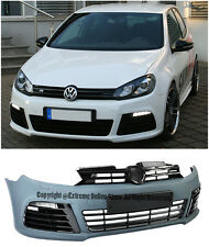 For 10-14 VW Golf GTI MK6 R20 Style Front Bumper Cover Upper Grille LED DRL Fog