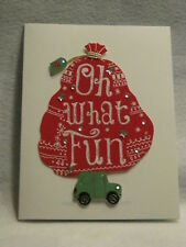 "Burgoyne Handmade - ""Oh What Fun"" - Christmas Greeting Card - NEW"