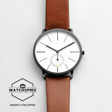 Skagen Men's Hagen Brown Leather Strap Watch SKW6216