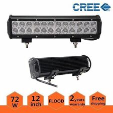 12inch 72W Cree Led Work Light Bar Flood Off-road Fog Driving Lamp SUV Jeep Ford
