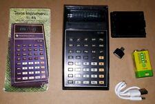 TI-45 Texas Instruments Vintage Taschenrechner 9V Li-Ion Akku 1200mAh USB laden