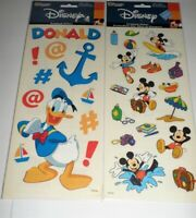 "Disney Sandylion Mickey Mouse Donald Duck BIG 15"" Packs 1 Sheet Each NEW VTG"