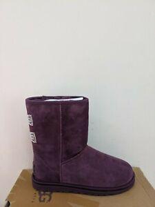 Ugg Australia  Women's Classic Short Crystal Bow Diamond Boots  Size 6 NIB