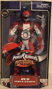 Red Power Rangers Operation Overdrive 12 inch Tall Red Ranger Talking 2006 Mint