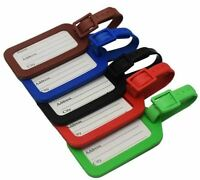 5PC Luggage Tag Set Travel Holiday  Suitcase Address Label