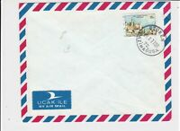 cyprus 1977 buildings air mail stamps cover ref 21192