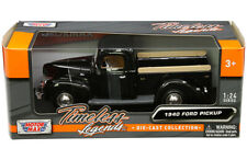 1940 Ford F-1 Pickup Truck Die-cast 1:24 by Motormax 10 inches Black