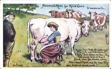 Advertising. Molassine Cattle Meal/Dog Food. Milk Maid.