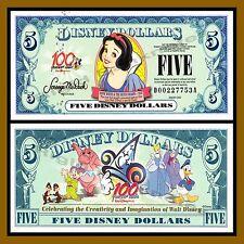 "Disney 5 Dollars, 2002 ""D"" Series Snow White Uncirculated"