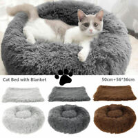 Donut Pet Chien Chat Lit Couchage Apaisant Ultra Chaud Doux Long Nid Rond SH
