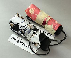 New Lightweight Marimekko Unikko Compact Folding Umbrella Manual Sun Rain