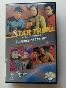 STAR TREK Balance of Terror Episode 9 VHS Video Tape Vintage Free Postage