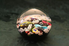 West Virginia USA Vintage Gentile Glass Company Scrambled Paperweight