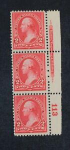 CKStamps: US Stamps Collection Scott#265 Strip Mint NH OG