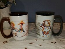 Disney Store Toy Story 20th Anniversary Coffee Cup Mug Set Woody Buzz Lightyear